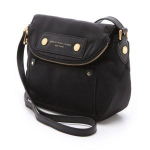 Marc Jacob's Natasha Nylon CrossBody Black/Gold